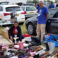 volunteers at a car boot sale