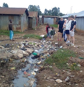 open drains in Ngando
